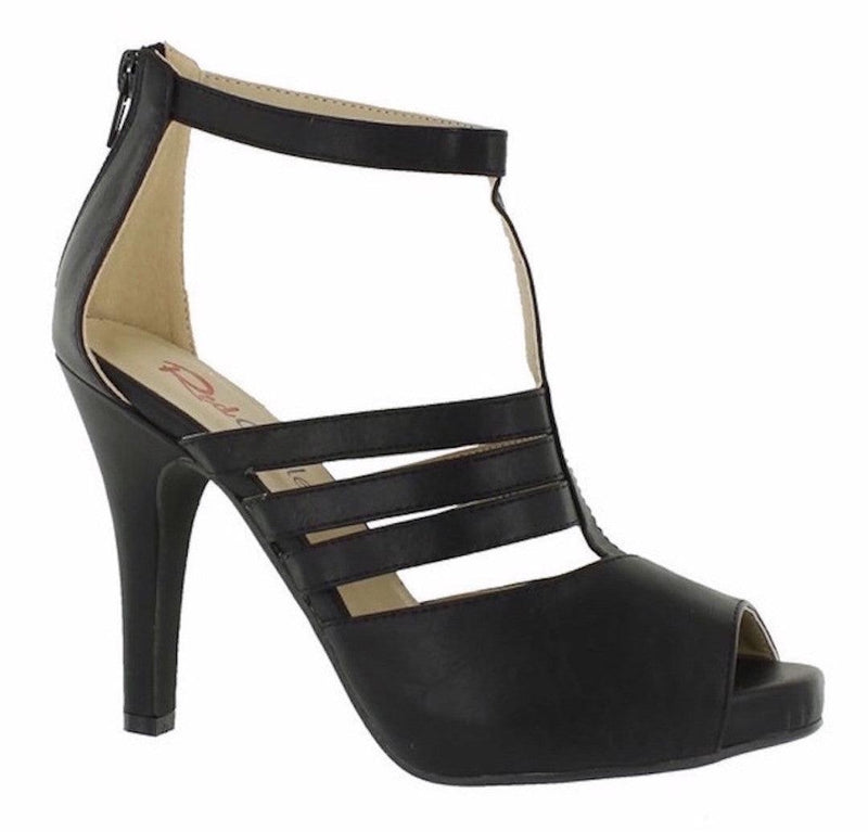 Black T-Strap Sandals - My Royal Closet