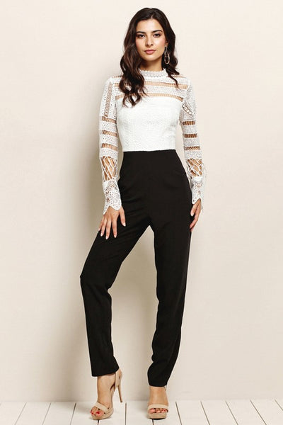 Sloane Black Ivory Jumpsuit - My Royal Closet