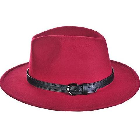 Burgundy Panama Hat - My Royal Closet