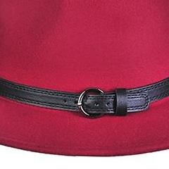 Burgundy Panama Hat