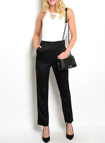 Carlie White/Black Jumpsuit