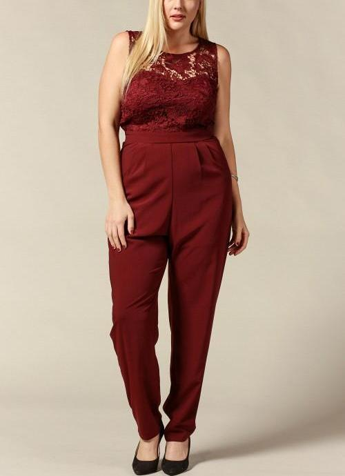 Royal Curves Blake Cranberry Jumpsuit - My Royal Closet