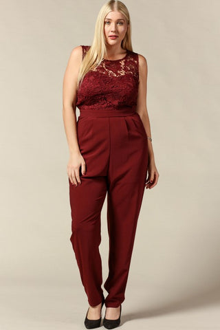 Royal Curves Blake Cranberry Jumpsuit