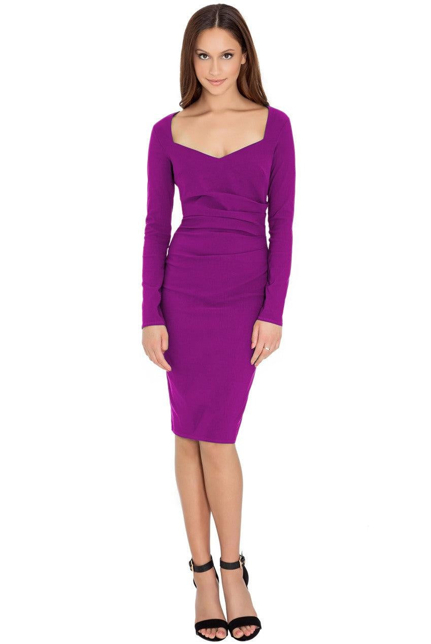 Avery Magenta Sweetheart Midi - My Royal Closet