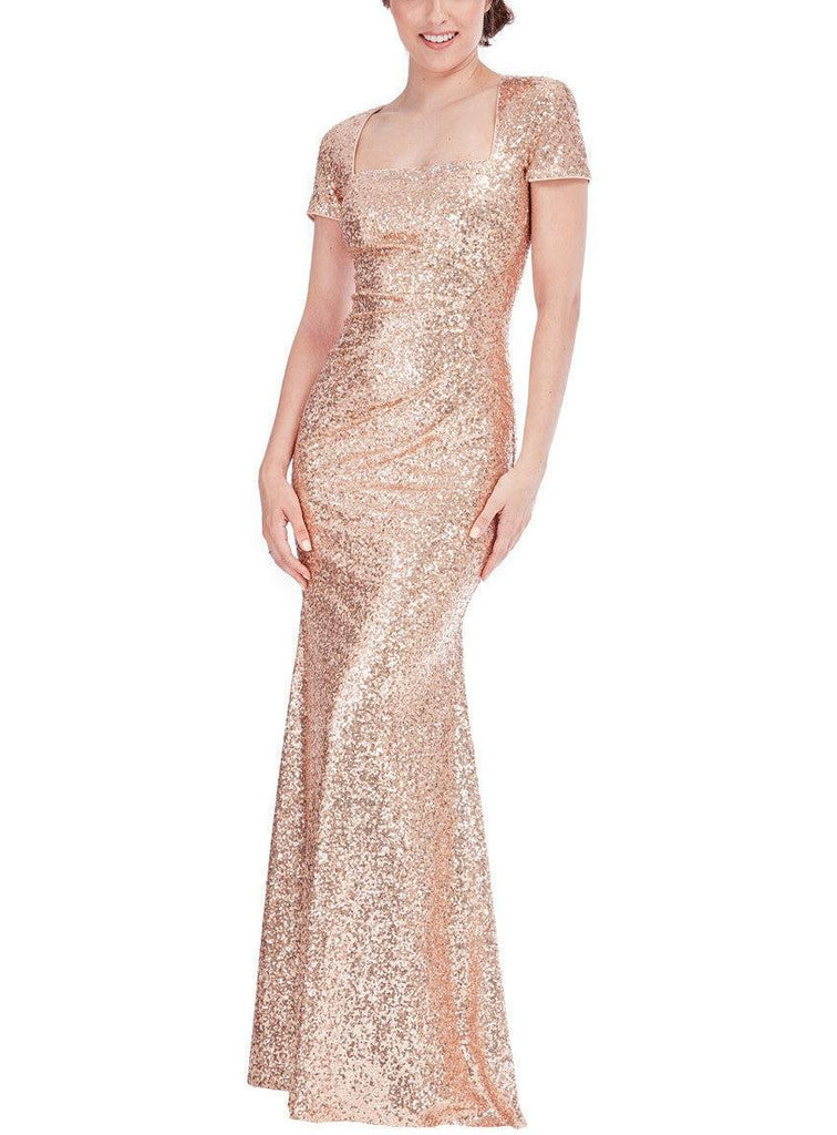 Delilah Champagne Sequin Gown – My Royal Closet