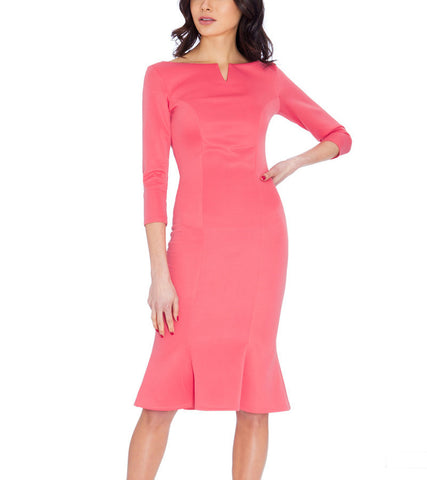 Molly Flute Hem Midi Dress