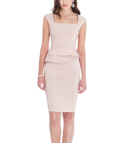 Structure Peplum Cocktail Dress