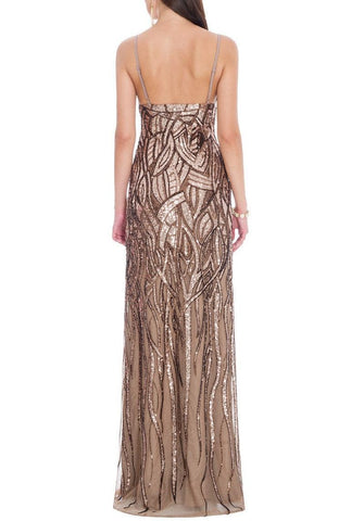 Alice Champagne and Chocolate Sequin Gown