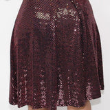 Cerise Sequin Cocktail Dress