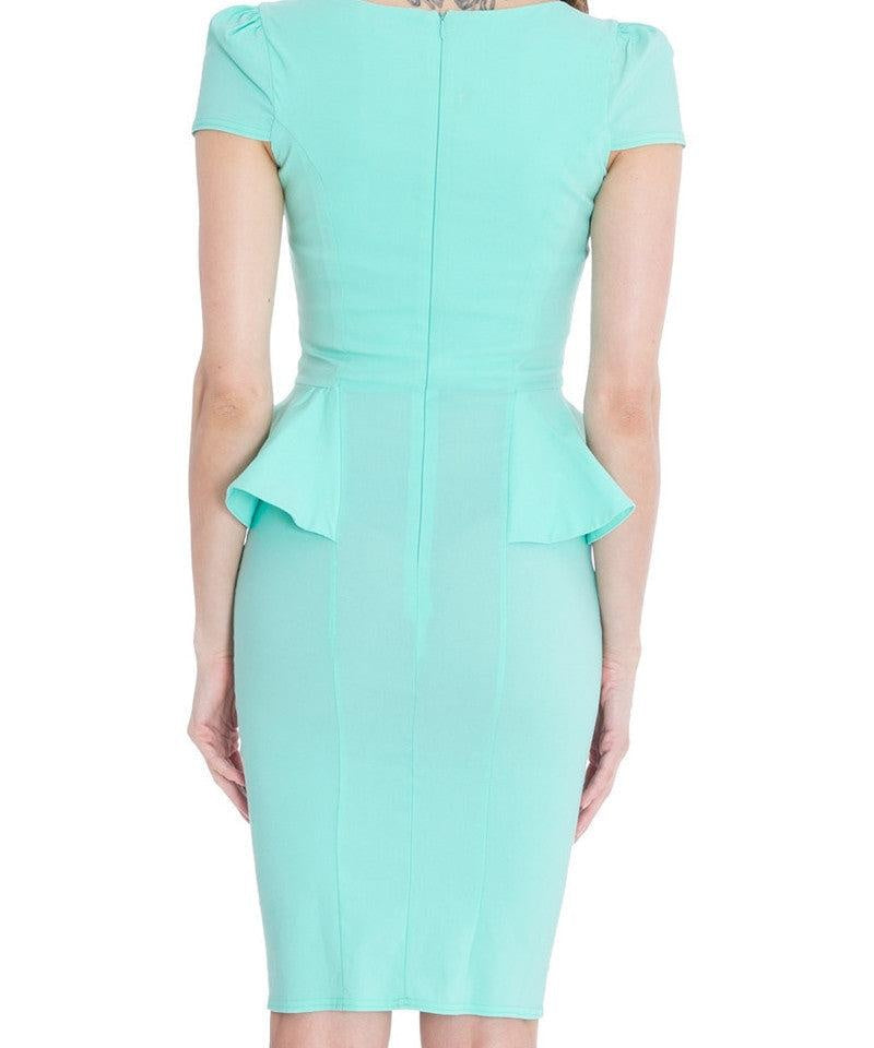 Hope Side Peplum Cocktail Dress - My Royal Closet