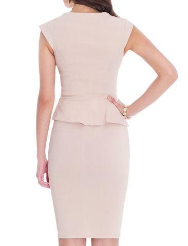 Keira Structure Peplum Cocktail Dress