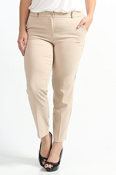 Royal Curves Khaki Slacks - My Royal Closet