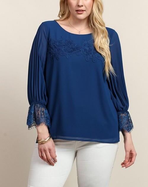 Royal Curves Iris Blue Blouse - My Royal Closet