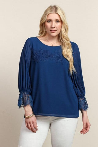 Royal Curves Iris Blue Blouse