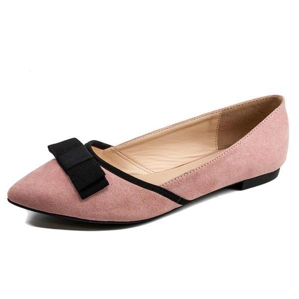 Blush Bow Flats - My Royal Closet
