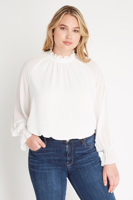 Royal Curves Audrey Chiffon Blouse - My Royal Closet