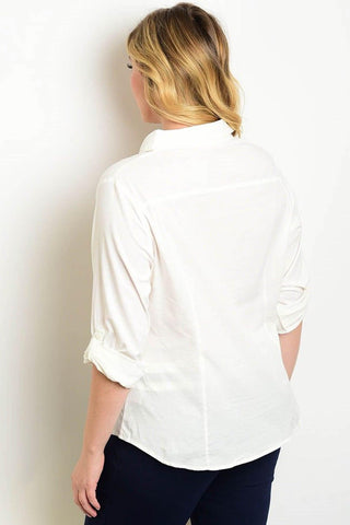 Royal Curves Off White Shirt
