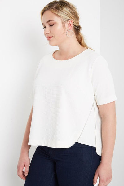 Royal Curves Hazel Off White Top - My Royal Closet