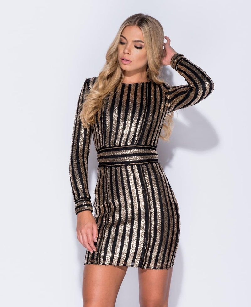 London Black/Gold Sequin Mini - My Royal Closet