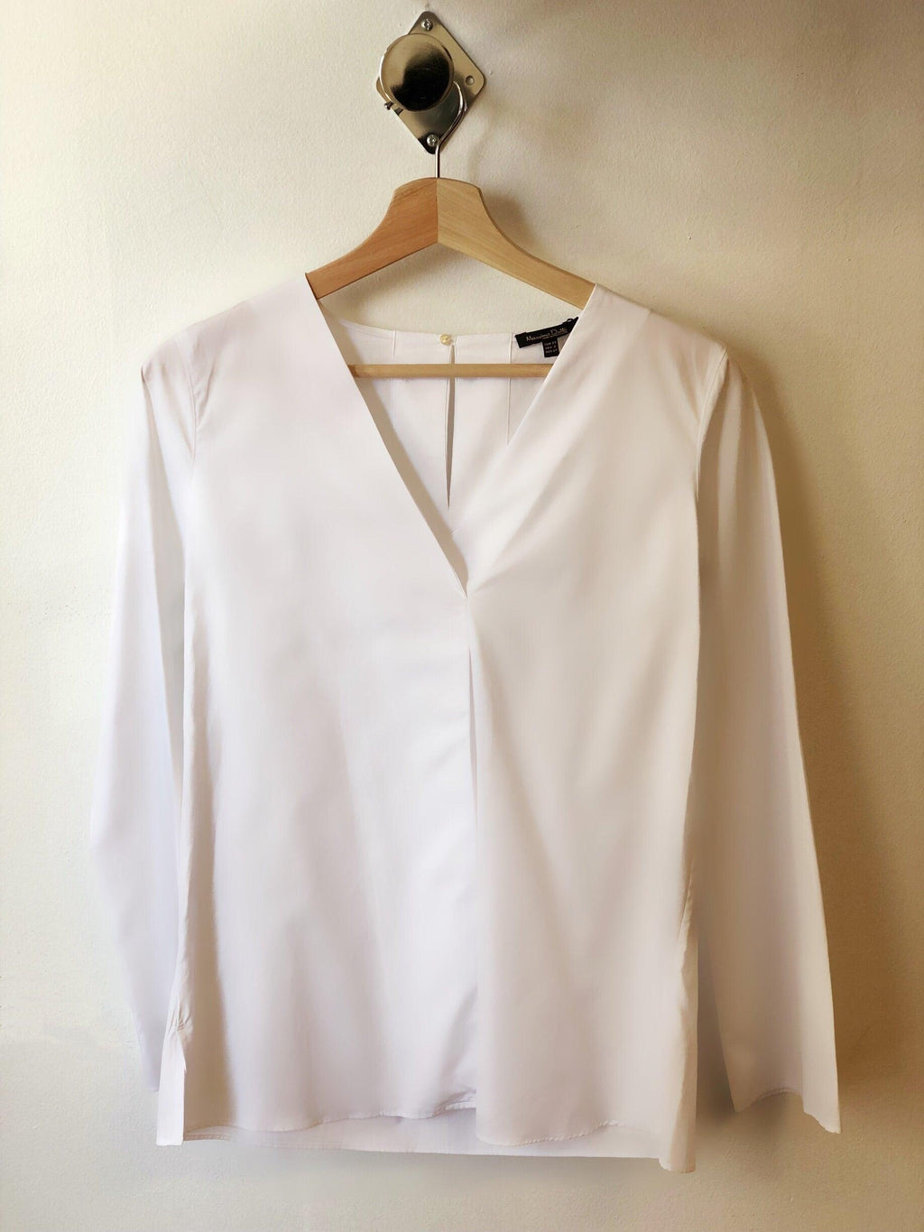 Massimo Dutti White Blouse 5117/155 - My Royal Closet