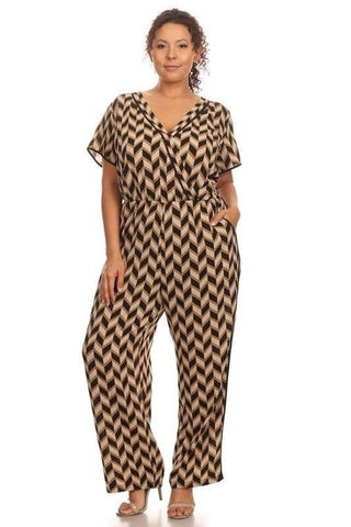 Royal Curves Geo Pattern Jumpsuit