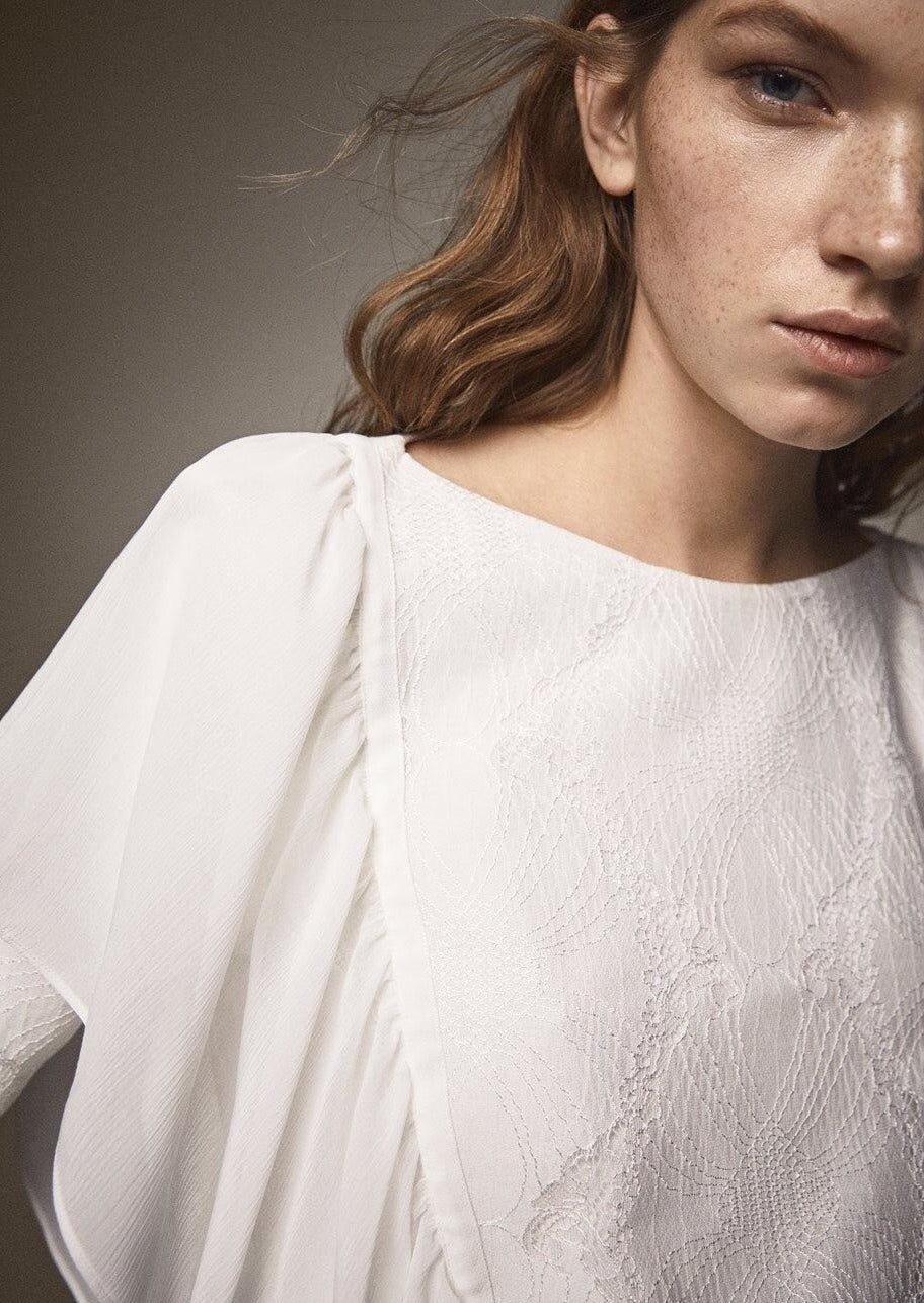 Massimo Dutti Lace Blouse 5117/515 - My Royal Closet