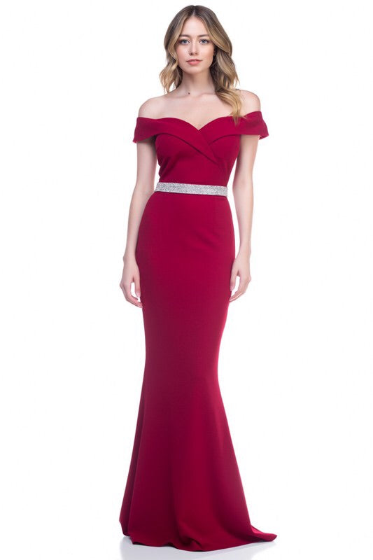 Harper Wine Maxi Gown - My Royal Closet