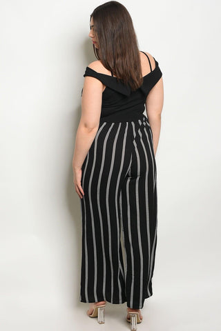 Royal Curves Pinstriped Jumpsuit
