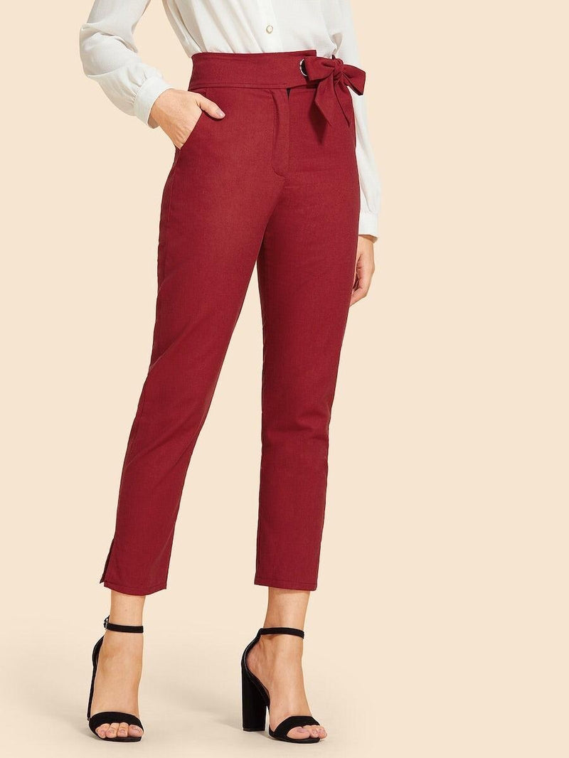 Burgundy Ankle Pants - My Royal Closet
