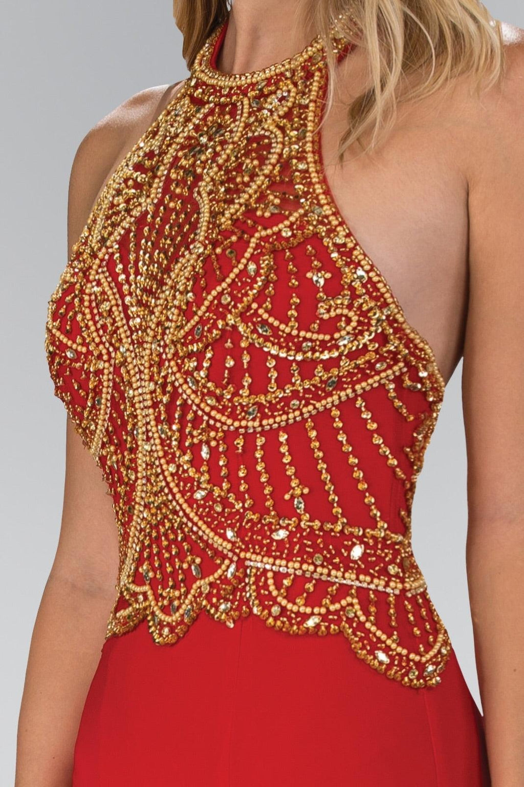 Juliette Red Beaded Gown - My Royal Closet