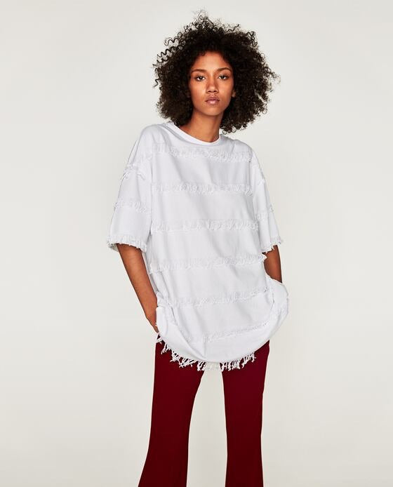 Zara Fringe Top - My Royal Closet