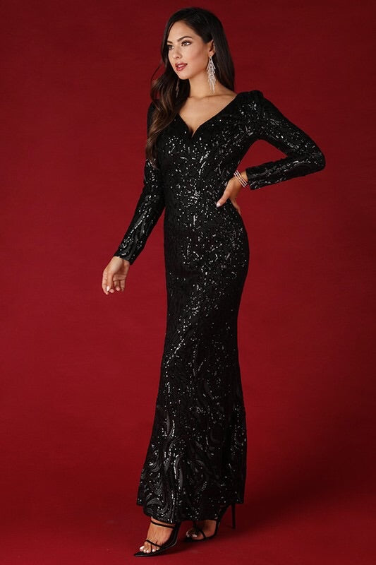 Gianna Sequin Gown - My Royal Closet