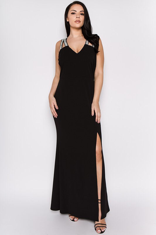 Royal Curves Black Maxi - My Royal Closet