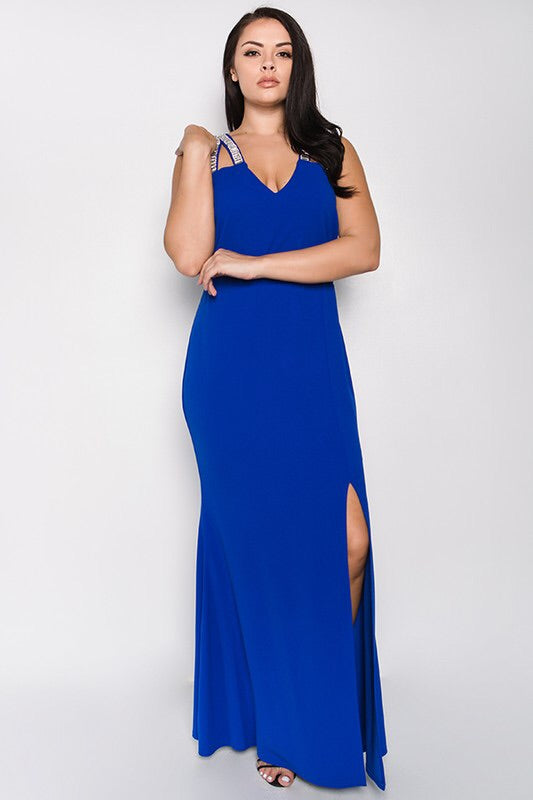 Royal Curves Blue Maxi - My Royal Closet