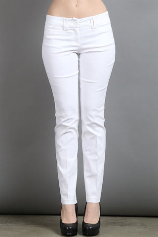 Slim Leg Off-White Pants