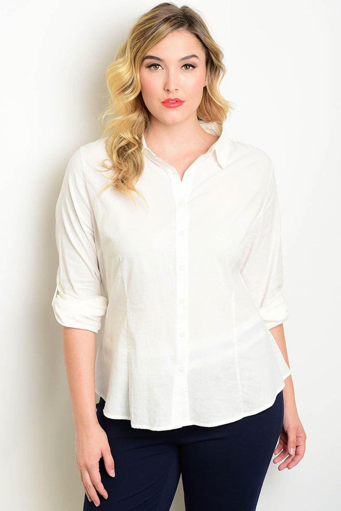 Royal Curves Off White Shirt - My Royal Closet