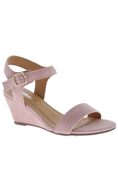 Blush Strap Wedges - My Royal Closet