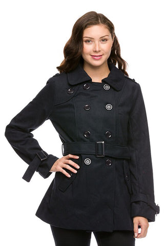 Royal Curves Black Peacoat