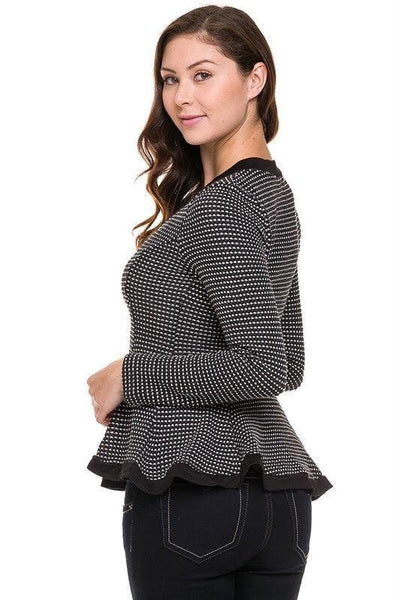 Royal Curves Peplum Sweater - My Royal Closet
