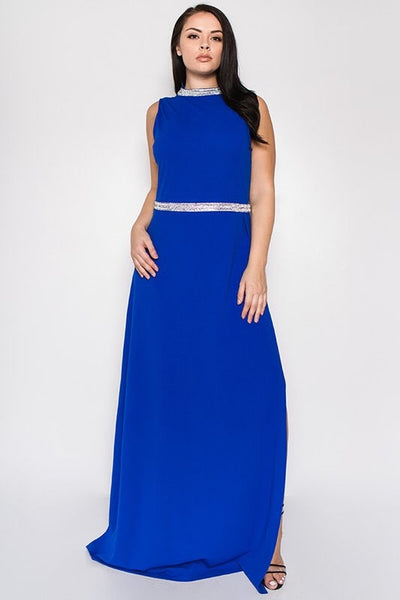 Royal Curves Koi Sapphire Gown - My Royal Closet