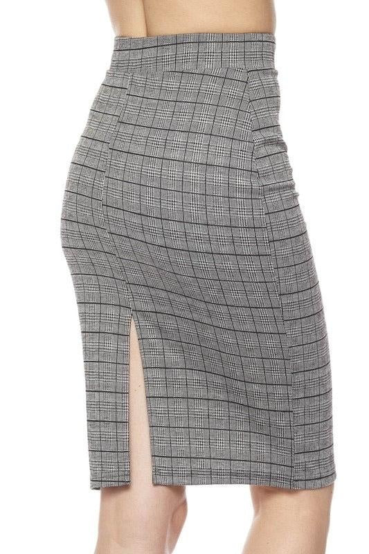 Plaid Pencil Skirt - My Royal Closet