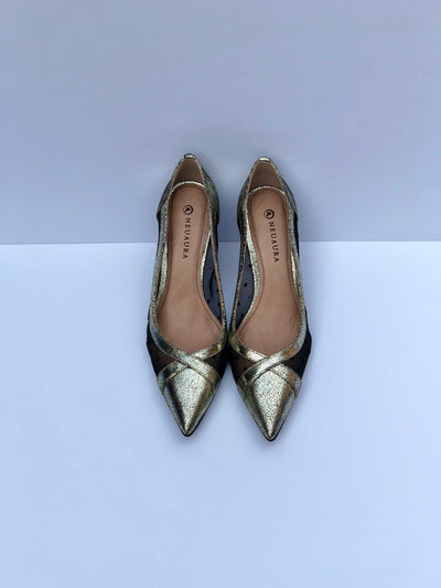 Gold & Black Neuaura Pumps - My Royal Closet