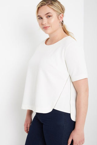 Royal Curves Hazel Off White Top