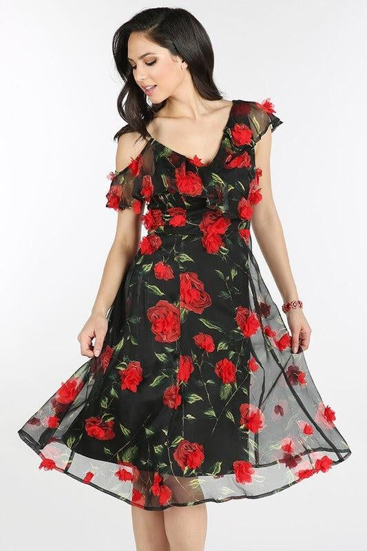 Celine Red Rose Midi - My Royal Closet