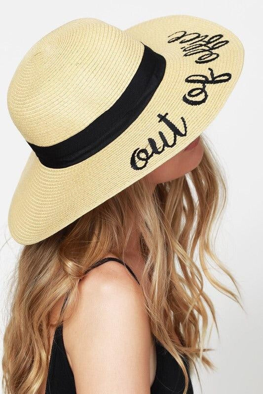 4f0cb24d980d6  Out Of Office  Beach Hat - My Royal Closet.