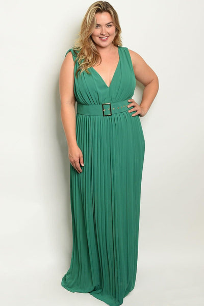 Royal Curves Lynne Jade Dress - My Royal Closet