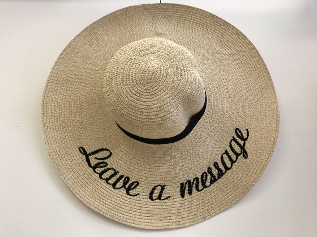 'Leave a Message' Hat - My Royal Closet