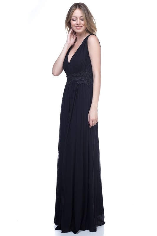 Juliette Black Mesh Maxi - My Royal Closet