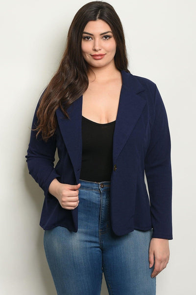 Royal Curves Navy Blazer - My Royal Closet