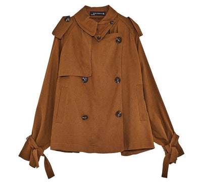 Toffee Zara Short Trench Coat - My Royal Closet